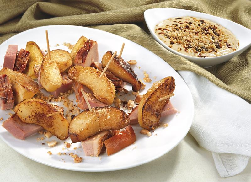 Хапки от ябълки и печен свински бут Image 0