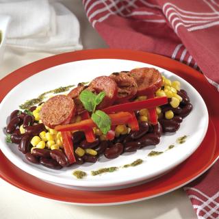Рагу от червен боб, царевица и Луканков колбас Thumbnail Image