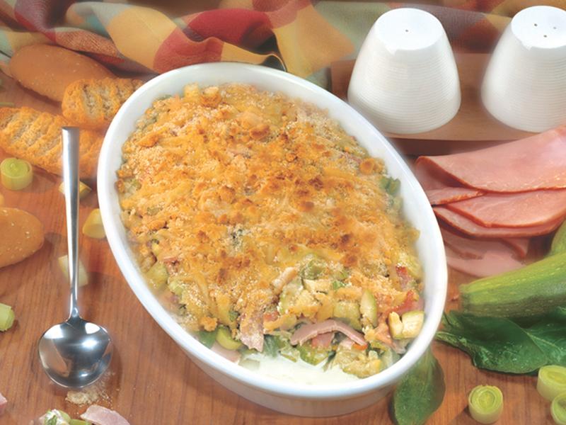 Вкусно лятно ястие с тиквички, шунка и спанак Image 0