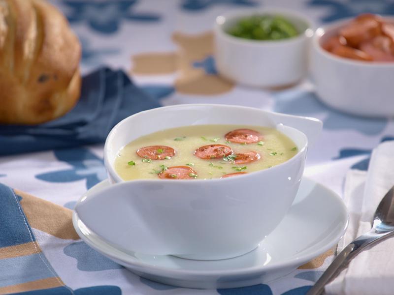 Картофена крем супа с кренвирши  Image 0