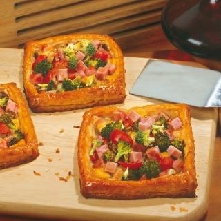Тарата с пуешка шунка, броколи и гъби Thumbnail Image