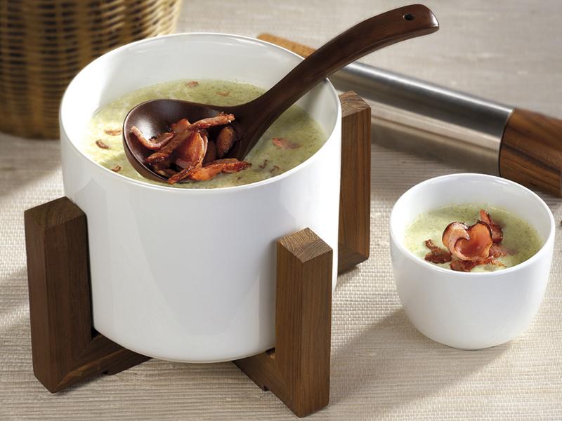 Крем супа от броколи с препечен бекон Image 0