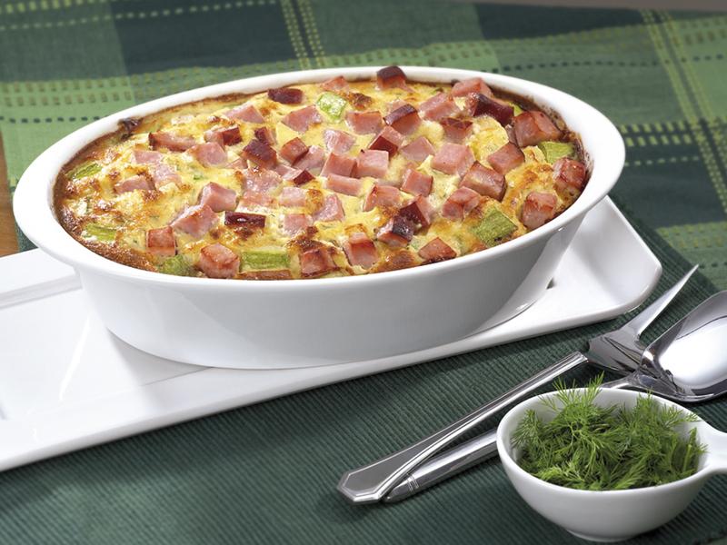 Огретен с крема сирене, тиквички и Варена шунка Image 0