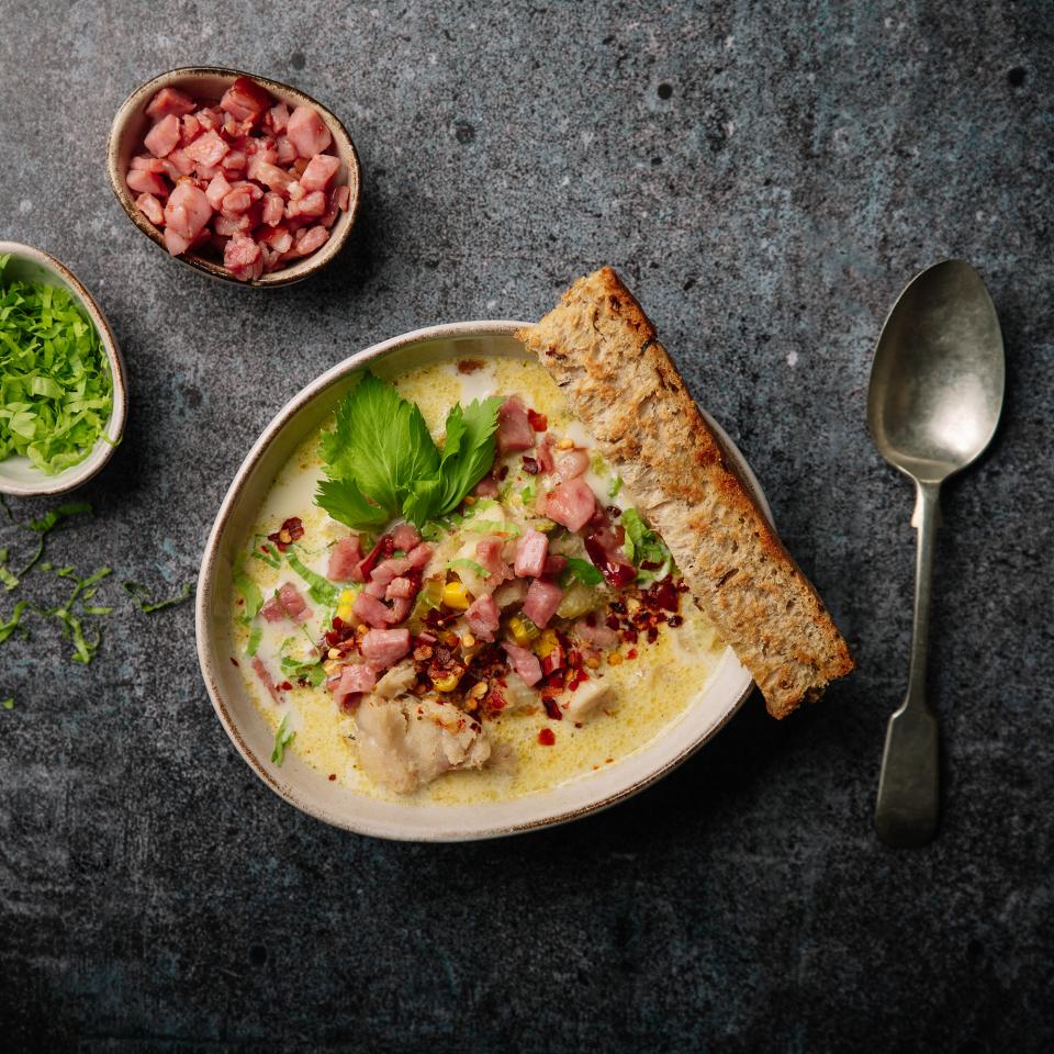 Рибена супа с царевица и бекон Тандем Image 0