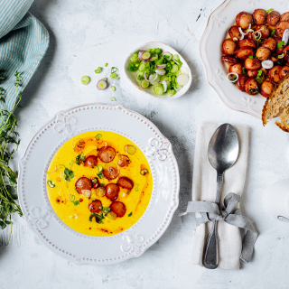 Бирена супа с чедър и телешки кренвирши Тандем Thumbnail Image